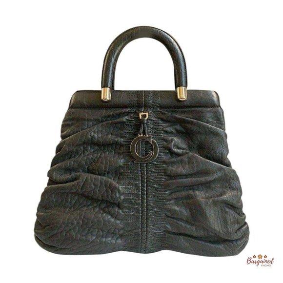 Authentic CHRISTIAN DIOR Ruched Karenina Bag
